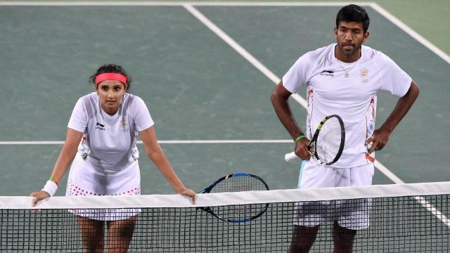 Sania Mirza and Rahul Bopanna after losing the match the Czech team - Sakshi Post