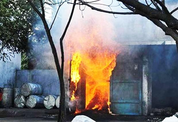 The firemen swung into the action to bring the razing flames under the control. - Sakshi Post