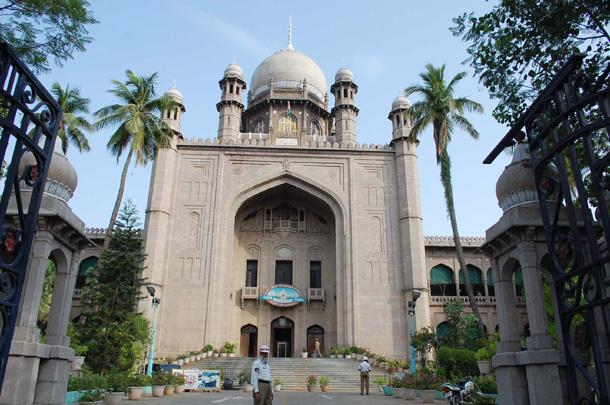 The Hyderabad High Court on Wednesday stayed a land acquisition notice issued by the Telangana government. - Sakshi Post