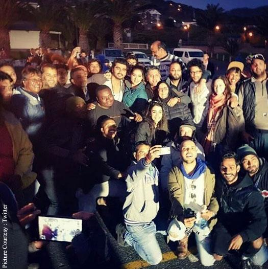 """""""To movies and memories! And that's a wrap on our Cape Town schedule of 'Half Girlfriend' Mohit Suri, Arjun Kapoor, Chetan Bhagat,"""" she tweeted - Sakshi Post"""
