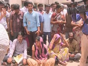 Family has staged dharna in front of the hospital - Sakshi Post