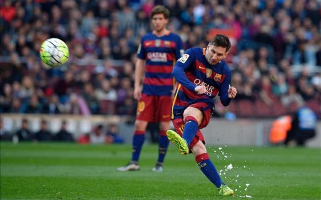 Messi will be sidelined for the next three weeks due to a groin strain suffered in Barca's 1-1 draw with Atletico Madrid on Wednesday night - Sakshi Post