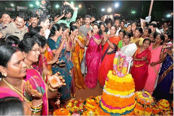 K Kavitha, TRS MP from Nizamabad and President of Telangana Jagruti, will visit eight countries as part of the Bathukamma celebrations overseas from September 30 onwards. - Sakshi Post