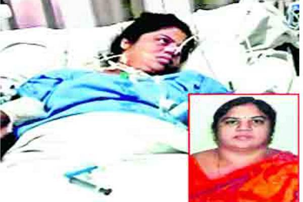 Sai Jyothi has been unconscious for two weeks. Her husband Dr Suman Kalyan said there's no improvement in her condition, who later lodged a complaint against the hospital and doctors in Chaitanyapuri police station. - Sakshi Post