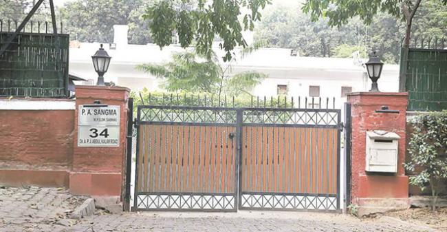 34, APJ Abdul Kalam Road bungalow, which may become the new address of President Pranab Mukherjee after his tenure gets over in July next year. - Sakshi Post