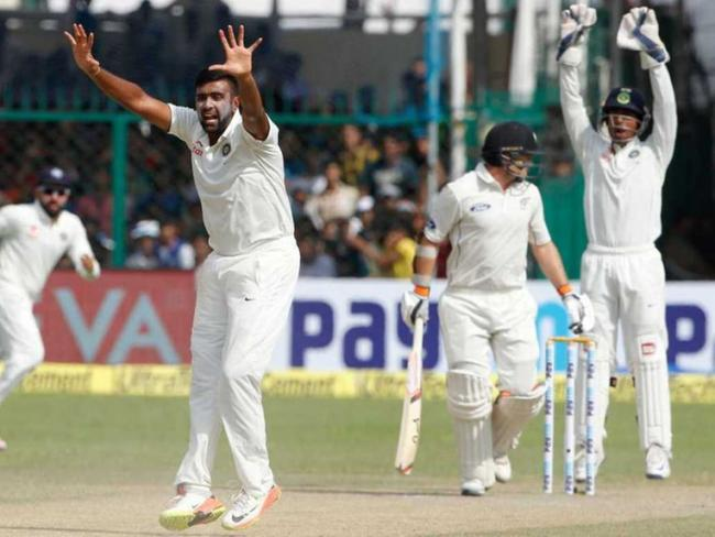 Chasing a mammoth 475, the Kiwis were bundled out for a paltry 153  runs in their second innings - Sakshi Post