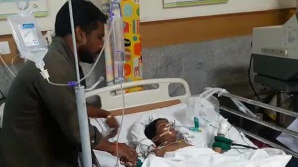 (File photo) Sanjana, a five-year-old child severely injured in a road accident at Pedda Amberpet, on Monday opened eyes and recognized her father Shivanand. - Sakshi Post