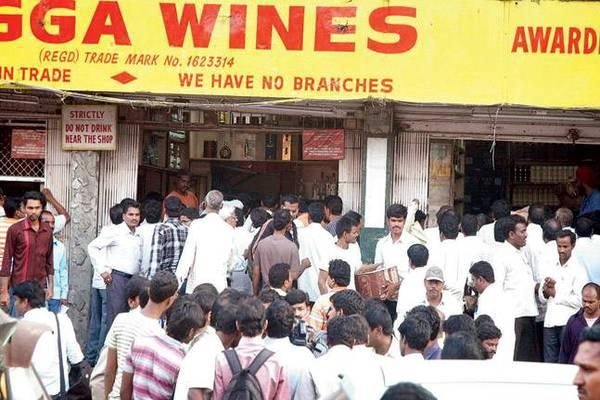 In Hyderabad alone, the liquor sales were to the tune of Rs 106 crore in the four days. Hyderabad has 590 bars and 400 liquor shops and topped with 13 per cent growth during the Dasara season. - Sakshi Post