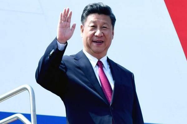 Xi Jinping, Chinese President, on Saturday arrived in Goa for participating in the eighth BRICS summit commencing from Sunday here. - Sakshi Post
