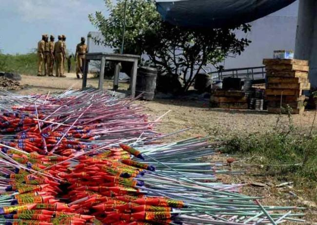 A stockpile of fire crackers in Sivakasi - Sakshi Post