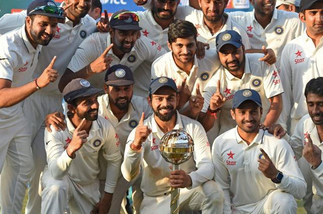 Top ranked Indian cricket team will be aiming to seal the number one Test spot at the end of the year. - Sakshi Post