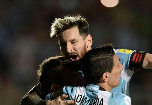 Barcelona maestro Messi was at his bewitching best in a 3-0 win over the Colombians which included his 10th-minute 30-yard free-kick before assists for Lucas Pratto and Angel Di Maria - Sakshi Post