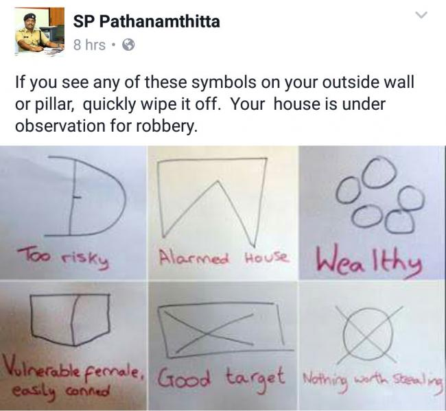 Stay alert if you see these symbols near your home.... - Sakshi Post