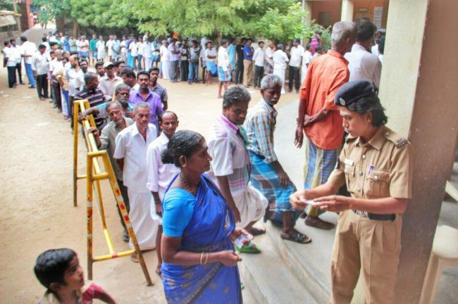 In Tamil Nadu, nearly 7.54 lakh voters are expected to exercise their vote and decide the fate of 81 candidates in the fray in the three constituencies - Sakshi Post