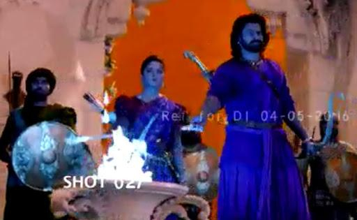 The video looks quite amazing, it is a war episode in which Prabhas and Anushka are planning counter attacks on opponents. - Sakshi Post