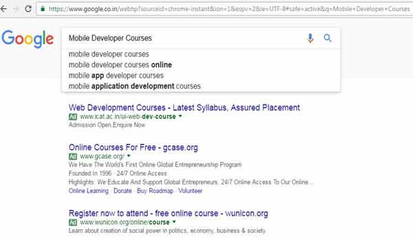 Search queries in mobile development courses from India saw 200 per cent (year-on-year growth) in the last two years. - Sakshi Post