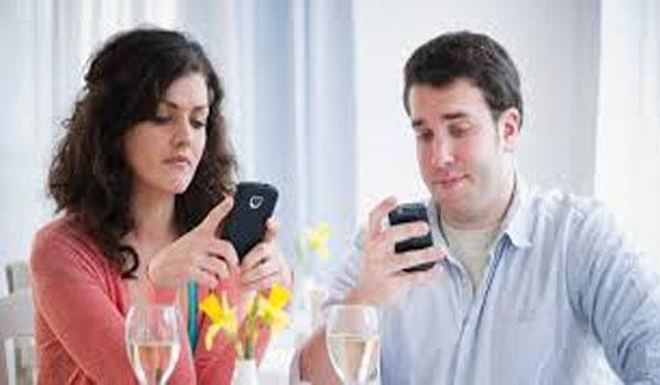 75 per cent of the adults reported getting into an argument over being on a device while together. - Sakshi Post