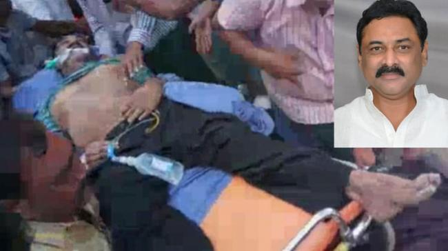 Bhuma Nagireddy being shifted to hospital on Sunday morning before he died undergoing treatment - Sakshi Post