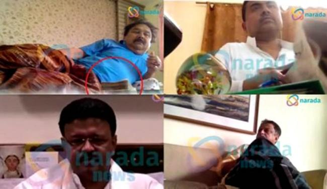 """Images from the infamous """"Narada sting footage"""" that has rattled the Trinamool Congress and its chief Mamata Banerjee. - Sakshi Post"""