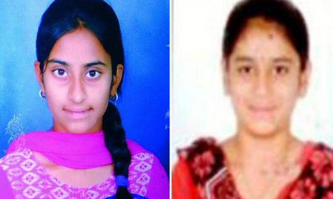 K. Sandhya and V. Sandhya who studied in NRI junior college in Vanasthalipuram emerged as the toppers in their college in inter exams - Sakshi Post