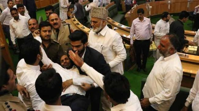 Noisy scenes by the opposition in the Jammu and Kashmir assembly on Tuesday forced the Speaker to adjourn the House twice as the lawmakers took up the discussion on the Goods and Services Tax (GST) implementation. - Sakshi Post