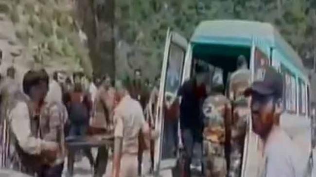 The police sources said that the bus carrying the pilgrims from Jammu to the hill shrine spun out of the driver's control at Nachnala and rolled into the gorge. - Sakshi Post