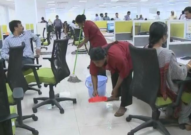 This was the scene in the irrigation department - Sakshi Post