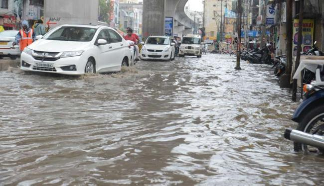 As more rains are predicted in the coming 48 hours, the denizens are bracing up for harrowing times. - Sakshi Post