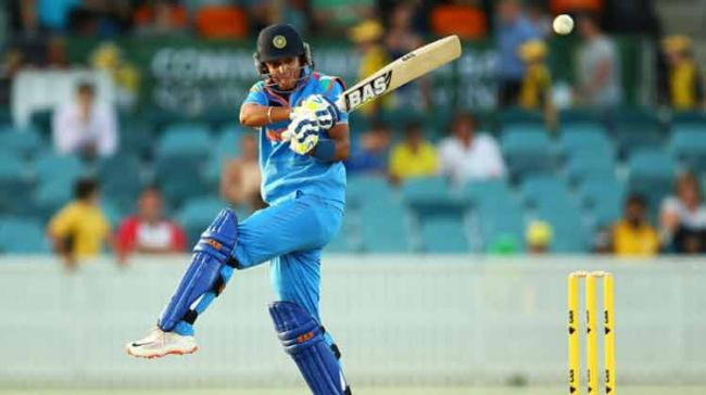 Captain Mithali and Harmanpreet Kaur are at the crease with 31 and 30 scores respectively. - Sakshi Post