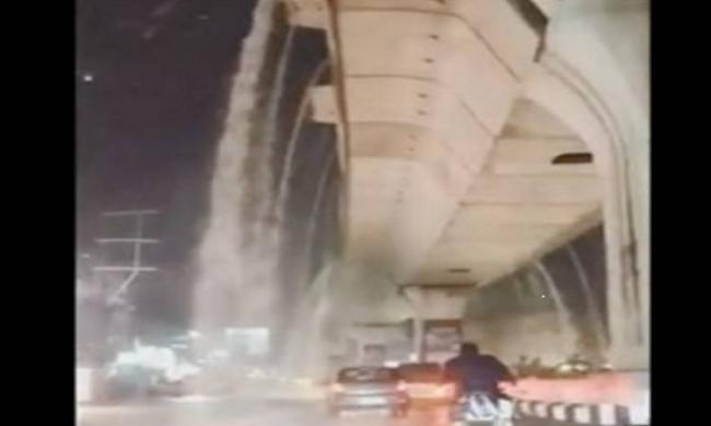 """A netizen posted a video of the """"waterfalls"""" on the social media and it is going viral. - Sakshi Post"""