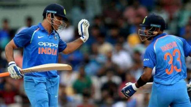 Pandya (83 from 66 balls; 4*5, 6*5) and Dhoni (79 from 88; 4*4, 6*2) forged an 118-run sixth wicket stand to help India recover from a precarious 87/5 after India skipper Virat Kohli won the toss and elected to bat. - Sakshi Post