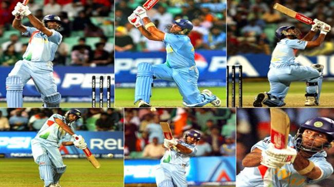 The golden moments of six sixes by Yuvraj Singh during the first T20 World Cup in 2007. - Sakshi Post