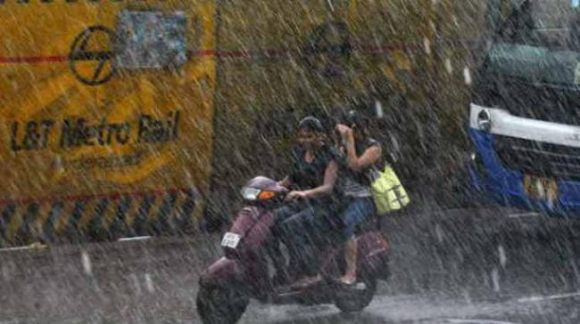 Several localities in the city were inundated due to flood water. Metro Rail works were suspended at all the locations. (File photo) - Sakshi Post