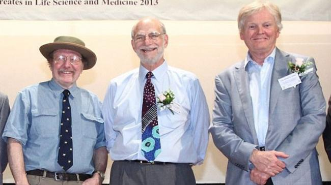 Jeffrey C. Hall, Michael Rosbash and Michael W. Young (from left to right) - Sakshi Post