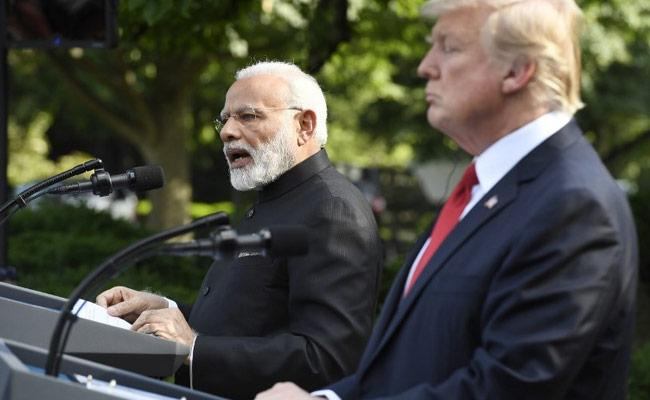 PM Modi and US President Donald Trump vowed during a phone call to jointly fight terrorism. - Sakshi Post