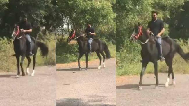 Ram Charan Tej is seen having a good pastime with his friend who was a part of his blockbuster hit — 'Magadheera'. A video of it is now doing rounds on social media. - Sakshi Post