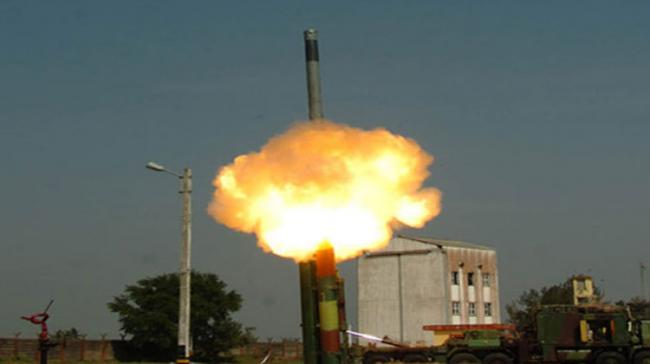 The missile hit a sea-based target in the Bay of Bengal from the combat jet - Sakshi Post
