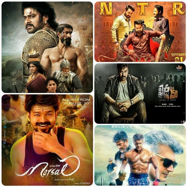 Last year saw the release of many movies in Telugu and Tamil, but only five of them have became blockbuster hits at the worldwide box office. - Sakshi Post