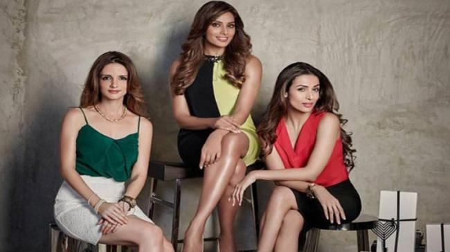 The three divas often get together for their business promotions and ad film shoot - Sakshi Post
