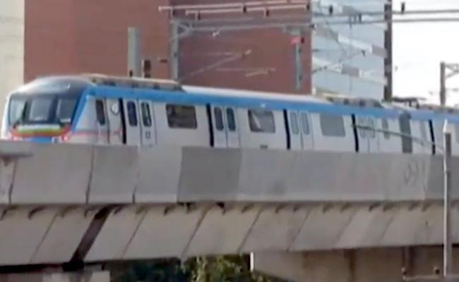 The metro train was parked at Prakash Nagar packet parking. After sometime, the rail traffic was disrupted from the both the terminals. - Sakshi Post