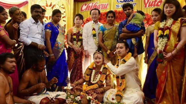 The dreamy wedding took place in Madurai, where the couple's family members and friends were present - Sakshi Post