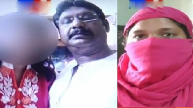Charles Sampath with a girl whom he trapped through a matrimonial site; his second wife who lodged a complaint with police - Sakshi Post