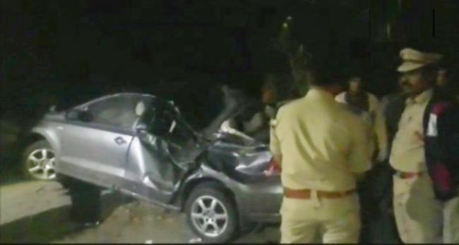 This was the latest in a series of drunken driving accidents in the city. - Sakshi Post