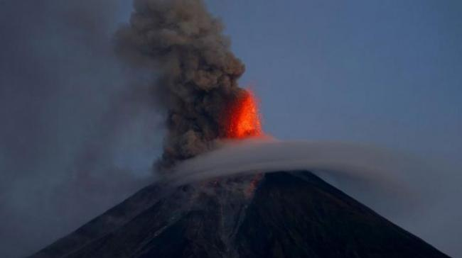 Mount Mayon has spewed lava up to 600 meters (2,000 feet) high at times Tuesday and early Wednesday and its ash plumes stretched up to 5km (3 miles) above the crater - Sakshi Post