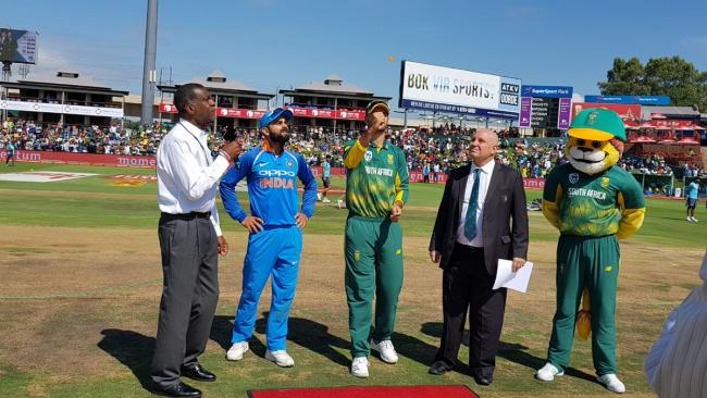 Indian captain Virat Kohli won the toss and chose to bowl in the second cricket one-dayer against South Africa. - Sakshi Post