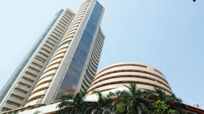 The 30-share Sensex was trading higher by 38.82 points or 0.11 per cent at 34,234.76 at 1300 hrs - Sakshi Post
