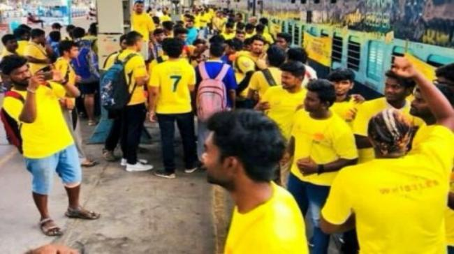 CSK fans on a special train to Pune - Sakshi Post