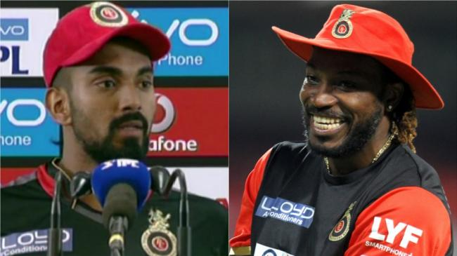 KL Rahul and Chris Gayle - Sakshi Post