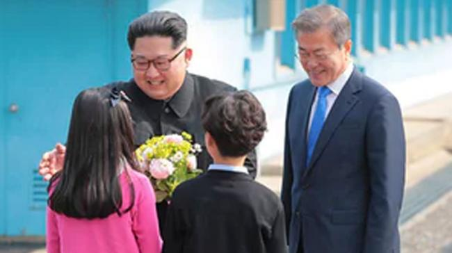 The summit began in the border village of Panmunjom after the leaders met for the first time at the Military Demarcation Line - Sakshi Post