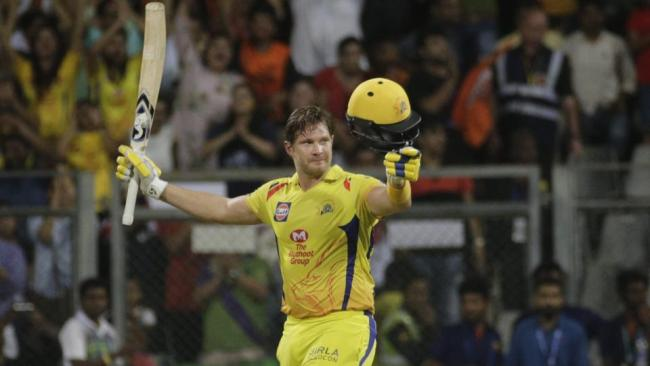 The Australian along with Suresh Raina (32) forged a 117-run match-winning partnership to put Chennai ahead of their opponents. - Sakshi Post